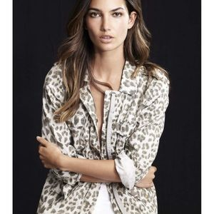 Lily Aldridge for Velvet Leopard Army Jacket